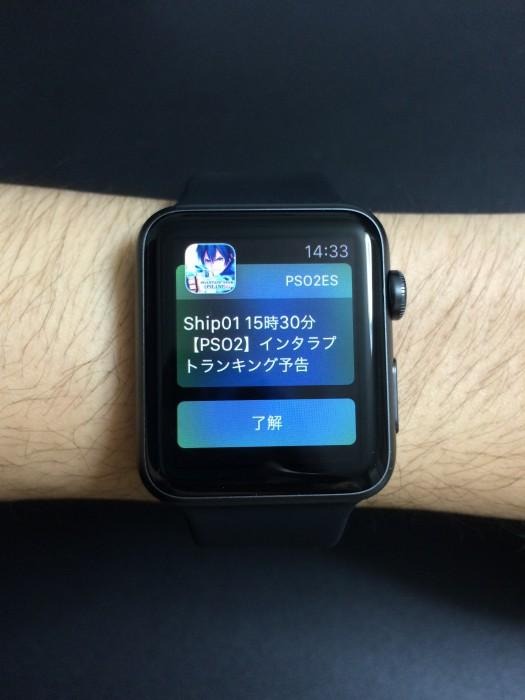 Apple Watch 装着時